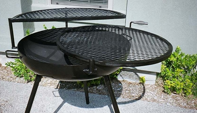 Cooking Fire Pit Designs ... double grill fire pits, tall open