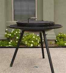 extended grill outdoor fire pits,  tall closed